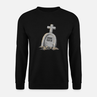 Tombstone Game Over Tombstone RIP - Men's Sweatshirt