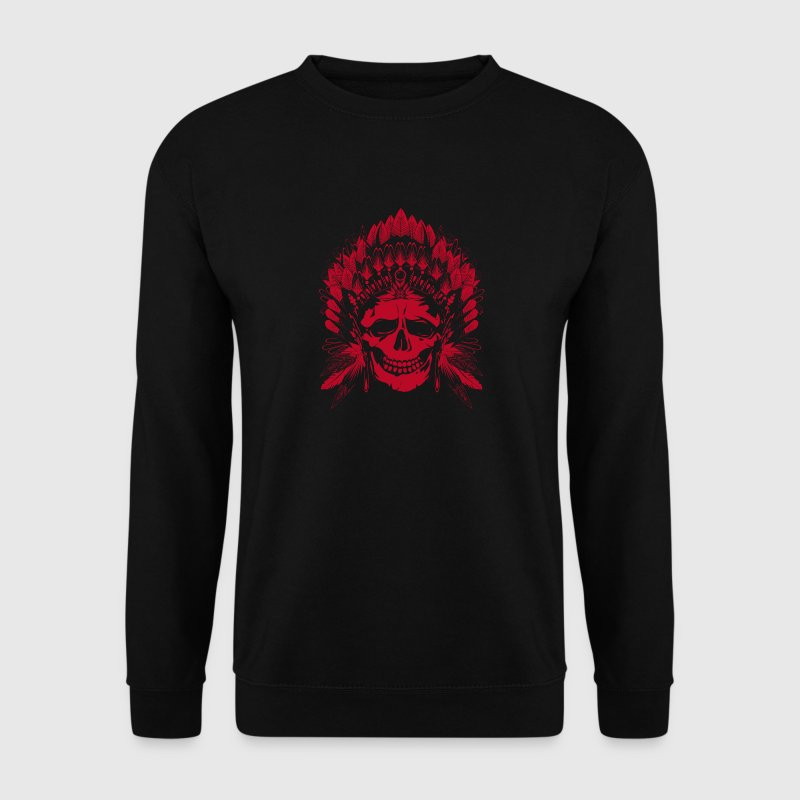 Crâne chef indien motif rouge - Sweat-shirt Homme