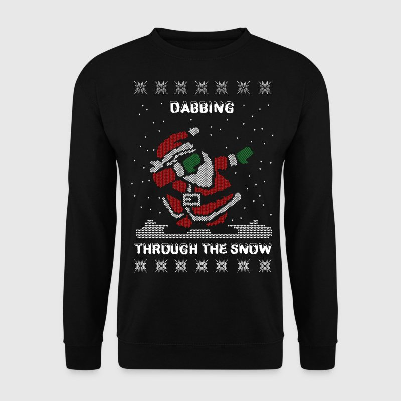 Funny Ugly Christmas Dabbing Through The Snow  - Men's Sweatshirt