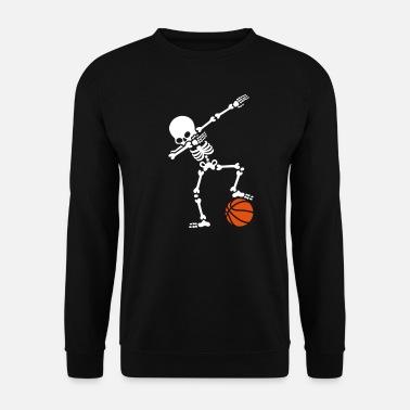 Baloncesto Dab dabbing skeleton football basketball - Sudadera hombre e9c28e97b4963