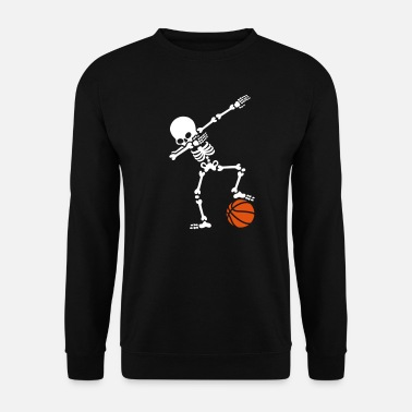 Drôle Dab dabbing skeleton football basketball - Sweat-shirt Homme