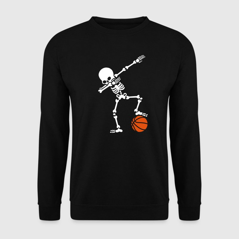 Dab dabbing skeleton football basketball - Sweat-shirt Homme