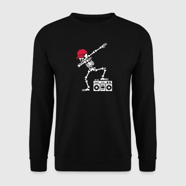 Dab dabbing skeleton boombox - Ghetto blaster - Sweat-shirt Homme