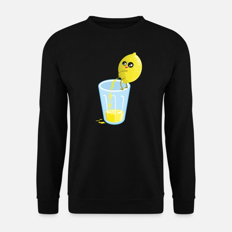 Humour Sweat-shirts - Lemon pees lemonade - Sweat-shirt Homme noir
