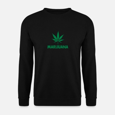 Leaf marijuana with leaf - Bluza męska