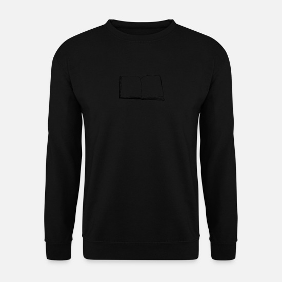 Vintage Sweat-shirts - livre - Sweat-shirt Homme noir