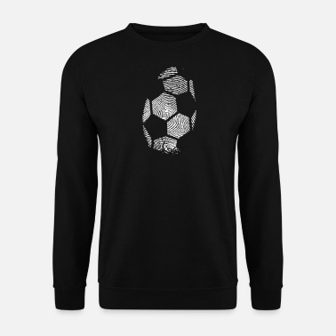 Europamester Fußball Fingerprint - Soccer Fingerprint -Team-DNA - Herre sweater