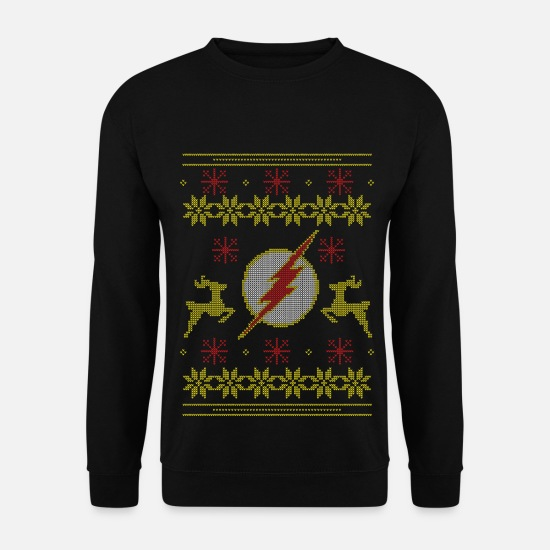 Christmas Pullover & Hoodies - Justice League The Flash Logo Ugly Christmas - Männer Pullover Schwarz
