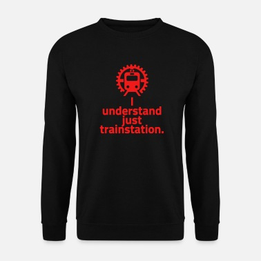 Gare gare rouge - je comprends seulement la gare - Sweat-shirt Homme