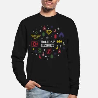 Justice League Holiday Heroes Ugly X-Mas - Sweat-shirt Unisexe