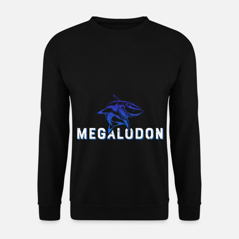Shark Hoodies & Sweatshirts - Megalodon shark - Men's Sweatshirt black