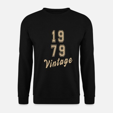 Années 90 Retro 1979 Text 40th Birthday Vintage Classic - Sweat-shirt Homme