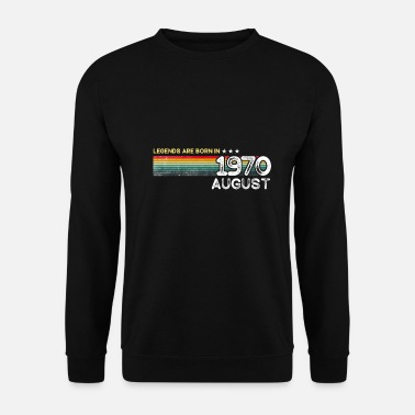 Happy Birthday August 1970 vintage t-shirt gift - Felpa unisex