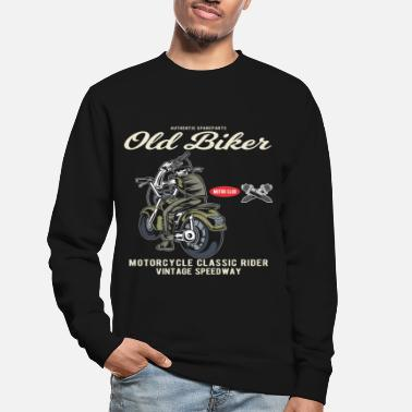 Skull Old Man Biker, Skeleton Shirt Motorcycle Club Veteran - Felpa unisex