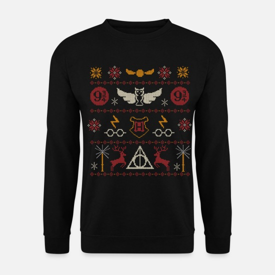 Harry Tröjor & hoodies - Harry Potter Ugly Christmas Sweater Design - Tröja unisex svart