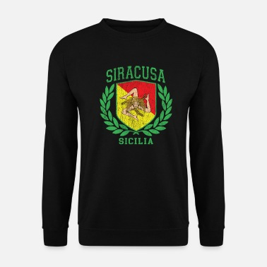 Cefalü Sicilia Flag and Shield with Trinacria - Siracusa - Unisex Sweatshirt