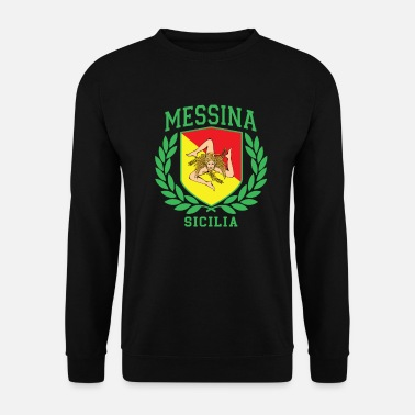 Cefalü MESSINA: Sicilia Flag and Trinacria Shield Design - Unisex Sweatshirt