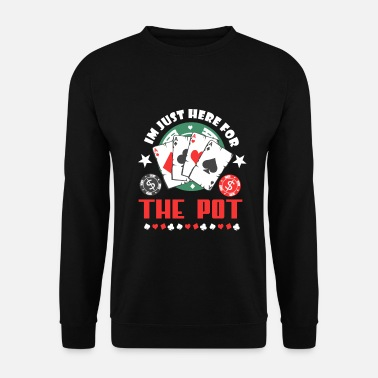 Poker Carte de joueur Poker Pott Money Bluffer - Sweat-shirt Homme