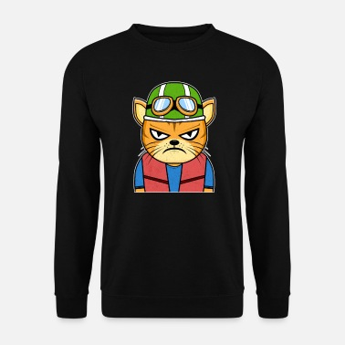 Evil Motorcycle Cat Motorcyclist Catfriends - Unisex Sweatshirt