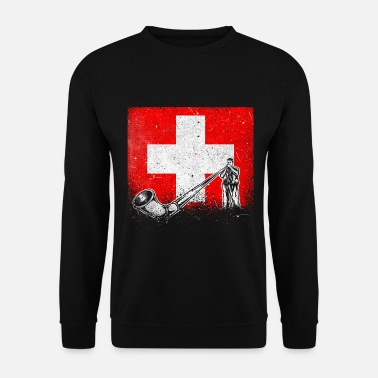 Swiss Switzerland Swiss alphorn music - Men's Sweatshirt