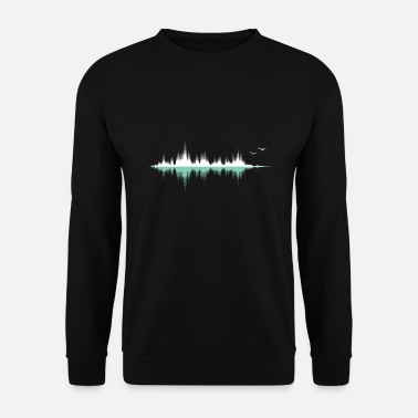 Audio Frequency Music audio wave / sound wave / audio frequency - Men's Sweatshirt