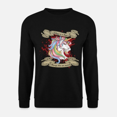 Wicked Unicorn Splatter Shirt Gift - Mannen sweater