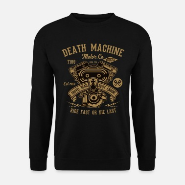 Motor Death Machine Fietser van de motorfiets Rocker motor Outlaw - Unisex sweater