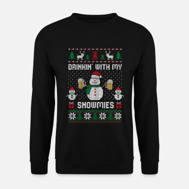 Ugly Christmas Beber con mis Snowmies Ugly Christmas - Sudadera unisex