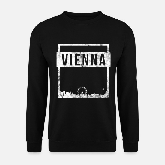 Capital Sweat-shirts - Skyline de Vienne - Sweat-shirt Homme noir