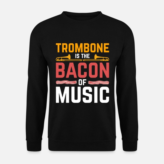 Gift Idea Hoodies & Sweatshirts - Bacon trombone - Men's Sweatshirt black