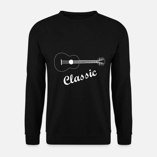 Love Hoodies & Sweatshirts - Guitar Classic - Guitar Guitarist Guitar Electric Guitar - Men's Sweatshirt black