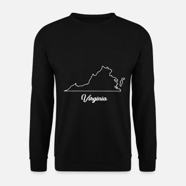 Géographie Carte de la Virginie - Sweat-shirt Homme