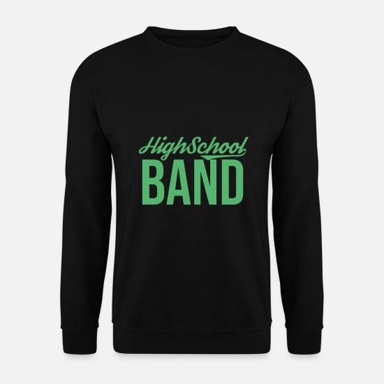 Gift Idea Hoodies & Sweatshirts - School band music band band band band member - Men's Sweatshirt black