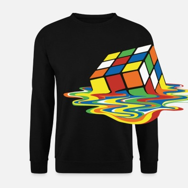 Geek Rubik's Cube Melted Colourful Puddle - Felpa unisex