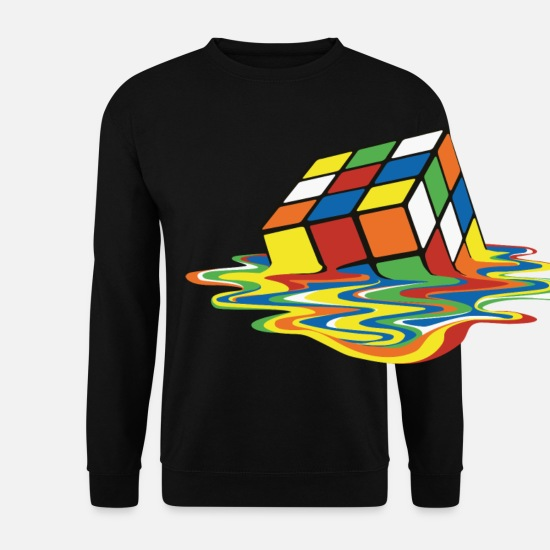 Geek Sweaters & hoodies - Rubik's Cube Melted Colourful Puddle - Unisex sweater zwart