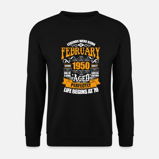 Birthday Hoodies & Sweatshirts - February 1950 - Unisex Sweatshirt black