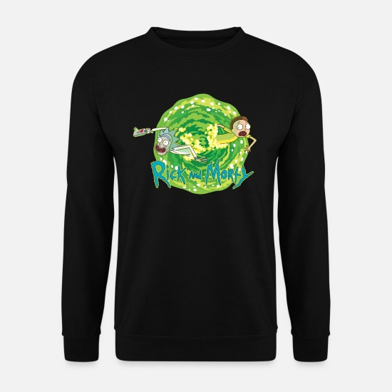 Fan Art Hoodies & Sweatshirts - Rick And Morty Multidimensional Travel - Unisex Sweatshirt black