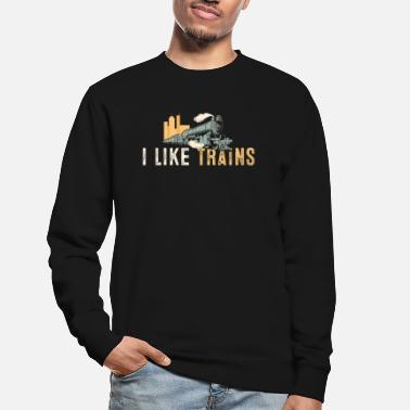 Steam Engine I Like Trains Best Train Driver Gift - Unisex Sweatshirt