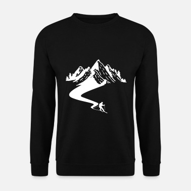 Station De Ski T-shirt de pilote de ski cadeau Apre Ski Mountain - Sweat-shirt Homme