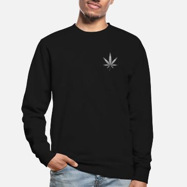 Cannabis Feuille de chanvre - blanc - Sweat-shirt Unisexe