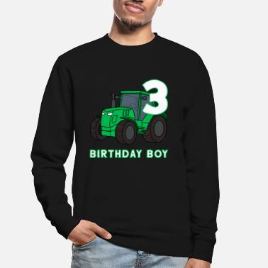 Birthday 3rd birthday tractor farm farmer kids party - Unisex Sweatshirt