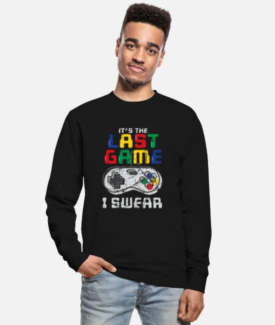 Pc Sweat-shirts - Le dernier jeu que je jure Funny Gamer Gaming - Sweat-shirt Unisexe noir