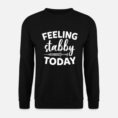 Bowling Feeling Stabby Today Funny Sarcastic Nurse Saying - Men's Sweatshirt