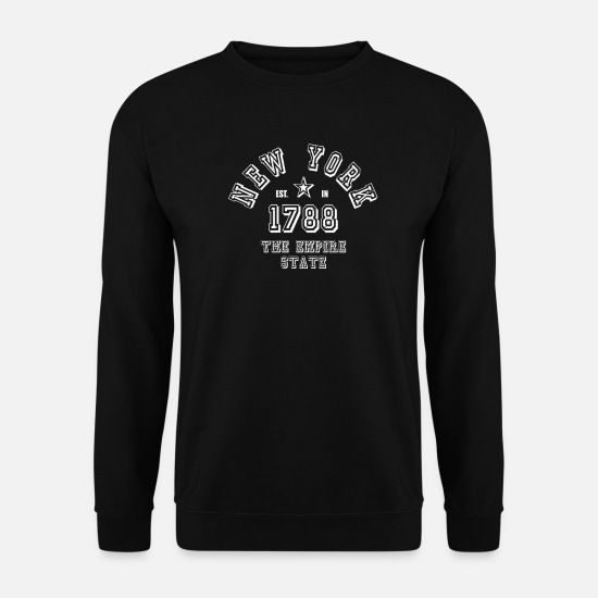 New York Pullover & Hoodies - New York USA Big Apple Amerika Empire State NYC - Männer Pullover Schwarz