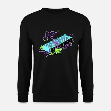 Modular Synthesizer - Black & Purple - Men's Sweatshirt