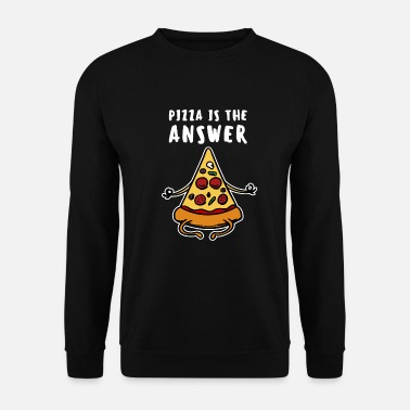Italy Pizza Pizzeria Pizza Pie Saying Funny Yoga - Men's Sweatshirt