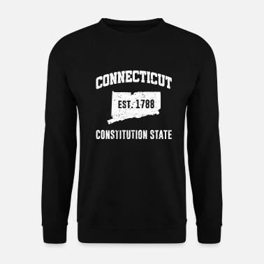 Constitution Connecticut State Line The Constitution State - Unisex Sweatshirt