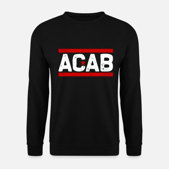 Star Hoodies & Sweatshirts - ACAB (white) - Men's Sweatshirt black