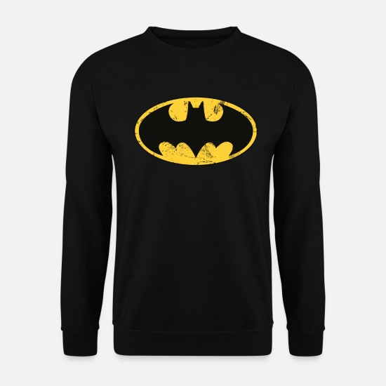League Sweatshirts & hættetrøjer - Batman logo Used Look teenage-T-shirt - Sweatshirt unisex sort