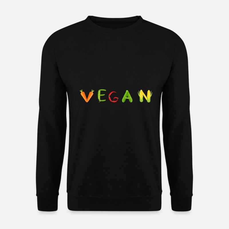Vegan Hoodies & Sweatshirts - Vegan vegetables Healthy food gift - Men's Sweatshirt black